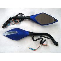Retrovisor C/ Pisca Azul Par Titan, Cb300, Twister, Falcon