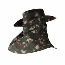 Chapéu Camuflado Exército Brasileiro Com Protetor