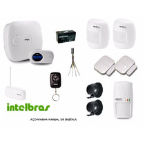 Kit Central Alarme Monitorada Intelbras Amt2018 Eg Completo