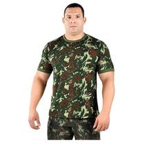 Camiseta Camuflada Militar Exercito Brasileiro Original