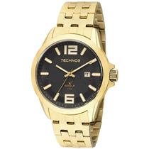 Relógio Technos Masculino Dourado Golf Em Aço 2115klv/4p