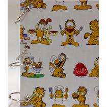 Caderno Pequeno Argolado Fichário Garfield 170x230mm 192fls