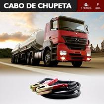Cabo De Chupeta Carga Bateria Caminhão Partida 3 Metros 800a