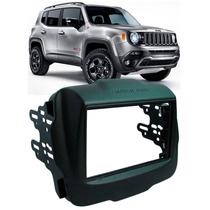 Moldura Painel Dvd 2 Din Multimidia Jeep Renegade Completa
