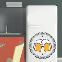Adesivo Parede Cozinha Geladeira Cerveja Chopp Bier Cheers