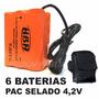 Bateria Extra Farol Lanterna De Bike 6x 18650 28.800mah 4,2v