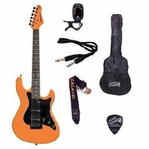 Kit Guitarra Strinberg Strato Egs267lr Afinador + Acessórios
