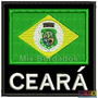 Bordado Termocolante - Bandeira Ceará Fp Com Nome 8x7,5cm