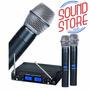 Microfone Karsect Kru362 S/fio Duplo Mão Digital Uhf