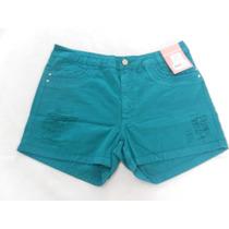 Shorts Sarja Plus Size Coloridos Feminino Moda Atual