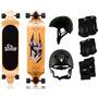 Skate Longboard Twodogs Bobcat D2 + Capacete + Luva + Joelhe