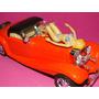 Mercedes 500k Laranja Capota Fechada & Boneca Escala 1/18