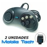 2 Controles Joysticks Para Mega Drive Master System Sega G25