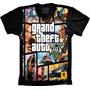 Camiseta Jogo Gta 5 Camisa Game Gta V Tshirt