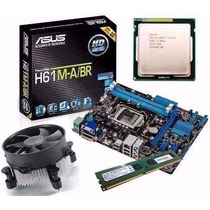 Kit Asus H61 M-a/br Hdmi + Core I5 3470 3.6 Ghz + 4gb Ddr3