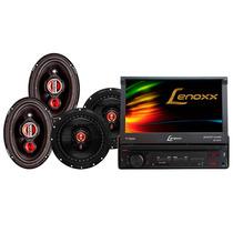 Dvd/cd Player Automotivo 7 Retrátil Lenoxx Com Tv Digital