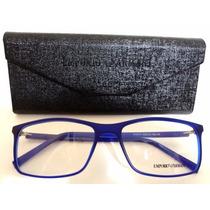 Ea6171 Unissex Armação Óculos De Grau Azul + Case E Flanela