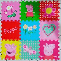 Tapete Borracha Infantil Pepa Peppa Pig Eva P/ Meninas 90x90