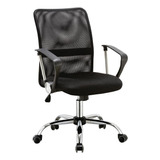 Cadeira De Escritório Pelegrin 501 Preta Con Estofado Do Malha