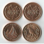 Lote De 4 Moedas De Isle Of Man 2 Pence 1984 - 2002 Todas Fc