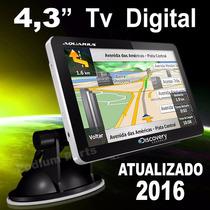 Navegador Gps 3d Discovery 4.3 Tv Digital Touch Alerta Radar