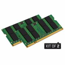 Kit 4gb (2x2gb) Ddr2 800mhz Pc6400 Sodimm Kingston P/ Apple