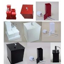 Kit Potes P/ Banheiro Acrílico C/ Strass_personalizado