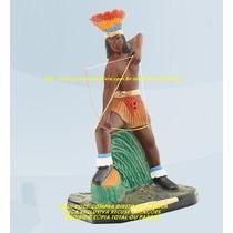 Escultura Caboclo Inca 30cm Imagem Melhor Preço Do Ml