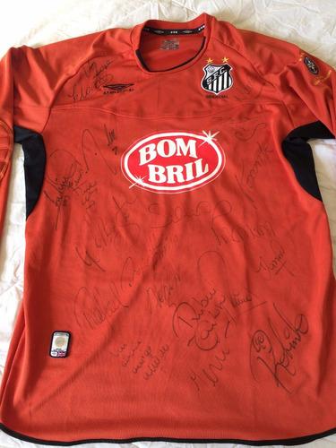 bfc2a9a2dc239 Camisa Santos Goleiro 2003 Away Umbro Autografada