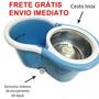 Spin Mop 360 Inox ( Balde+esfregão+2refil) Fretegratis