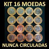 Conjunto Completo 16 Moedas Olimpíada Rio 2016 - Todas Novas