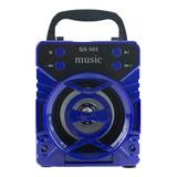 Mini Caixa De Som 8w Rms Bluetooth Rádio Fm Sd Auxiliar Usb