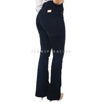Calça Flare Jeans Feminina Preta Cós Alto Cintura Alta!!!