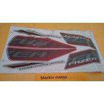 Faixa Kit Adesivo Yamaha Fazer 250 2011 Vermelha