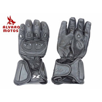 Luva X11 Impact Cano Longo Couro Preto M Moto Proteção