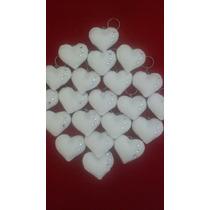 Chaveiro De Coração Em Feltro Branco Unidade