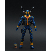Marvel Infinite Deadpool Azul 2 Cabeças Loose - Brinquetoys