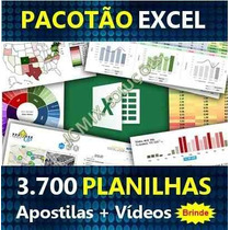 3700 Planilhas Excel 100% Editaveis - Apostilas + Videos!