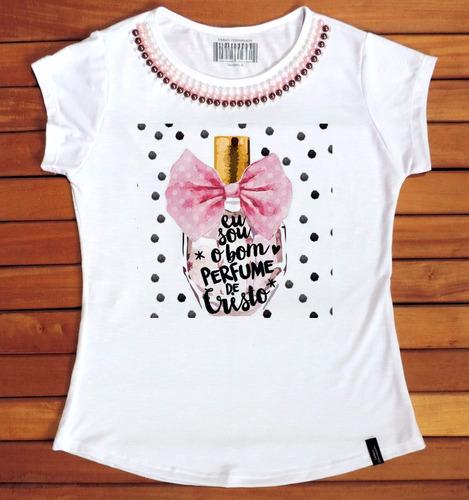 891efa525 Atacado T-shirts Feminina 25und Com Pedras Evangélica Gospel à venda ...