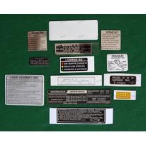 Adesivos Advertencia Honda Cbx 750 87 Originais