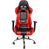 Cadeira Gamer Mx7 Giratoria Preto Azul / Vermelha Nfe