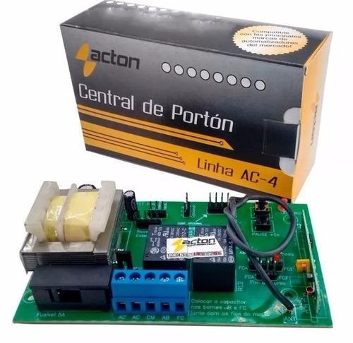 Turbo Universal Capacitor: Central Placa Acton Para Motor Portão Universal