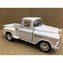 Miniatura Chevy Stepside Pick-up 1955 Branca