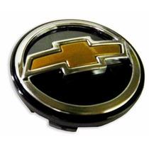 Jogo Calota Centro Roda Gm Prata Com Botton Dourado(4 Peças)