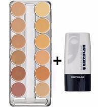 Kryolan Dermacolor Paleta A 12 Cores + Diluidor Makeup Blend
