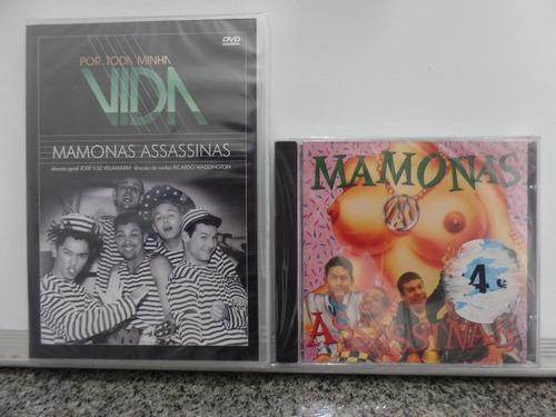 03b79d2db7ce1 Dvd+cd Mamonas Assassinas + Por Toda Minha Vida Novo Lacrado