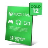 Xbox Live 12 Meses Código 25 Digitos.