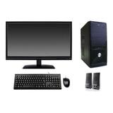 Computador Novo 4gb Hd 500gb Monitor Lcd 19'' Teclado Mouse
