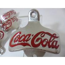 Abridor Garrafas Parede Coca-cola Em Metal Retrô / Vintage