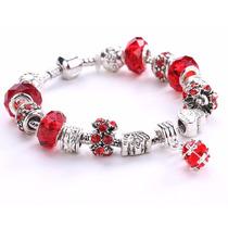 Pulseira Pandora Bracelete Feminina Berloques Prata 925 Viva